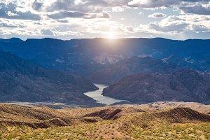 Scenic Arizona landscapes at sunset