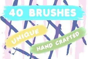 40 Hand-Crafted Brushes