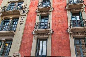 Barcelona streets in Las Ramblas