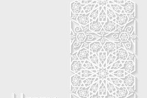 Set of Ramadan Kareem greeting cards