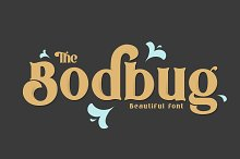 The Bodbug Typeface by  in Serif Fonts