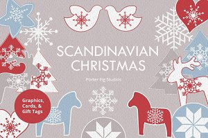 Scandinavian Christmas Graphics Set