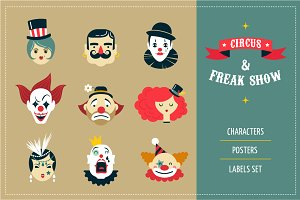 Freak Show, circus icons & posters