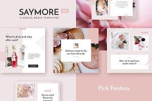 Saymore Pink Fantasy Templates