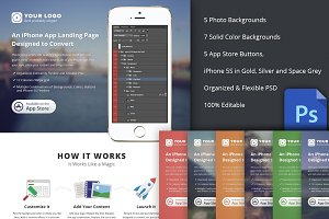 iPhone App Landing Page (PSD)