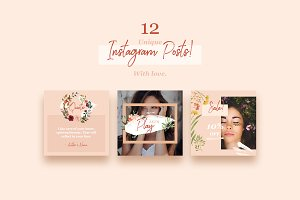 Floral Instagram Templates Pack