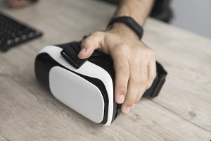 VR virtual reality glasses on a