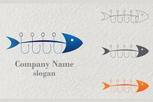 Logo Fishing Vector
