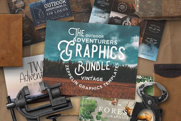 Outdoor Adventurers Graphics Bundle