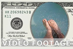 Riding water slide in 100 dollars