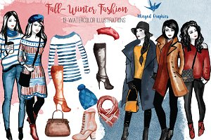 Fall & Winter fashion illustrations
