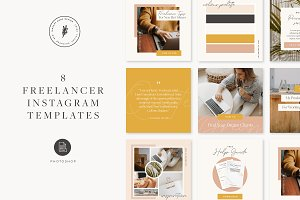Freelancer Instagram Template Pack