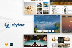 SkyLine - Hotel Booking Template