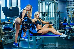 Brutal fitness two female friends