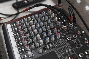 DJ remote control. Dj audio