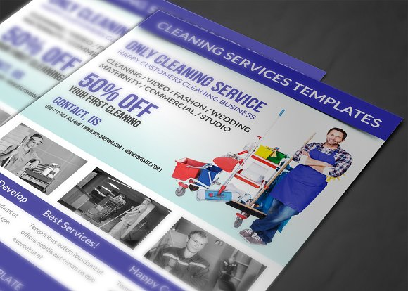 cleaning services flyer template flyer templates creative market