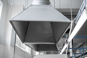 Industrial system of ventilation and