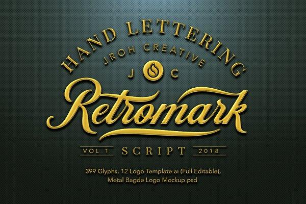 Script Fonts: JROH Creative - Retro Mark Script