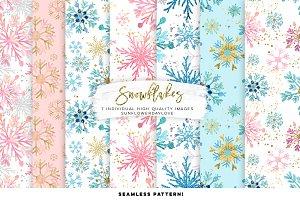 Snowflakes Digital Paper