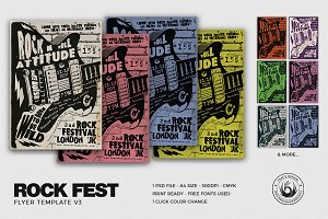 Rock Festival Flyer Template V3