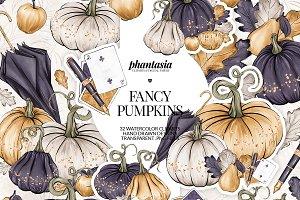 Fancy Pumpkins Cliparts