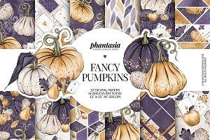 Fancy Pumpkins Digital Paper