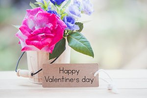 happy valentine on card