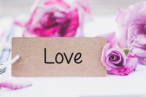 Writing love on card