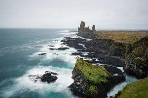 Icland sea landscape