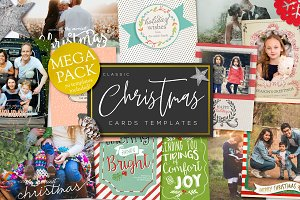 Mega Pack Christmas card templates