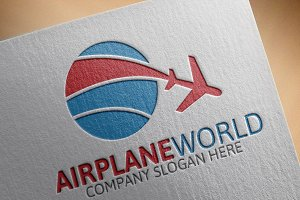 Airplane World Logo