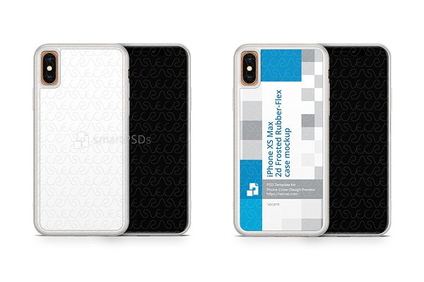 iPhone XS Max 2d Frosted Rubber Cas…