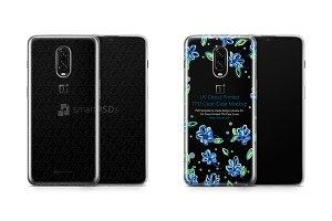 OnePlus 6T UV TPU Clear Case Mockup