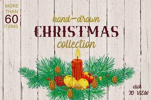 Hand-drawn CHRISTMAS collection