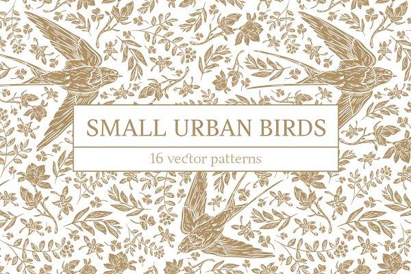 Small Urban Birds patterns
