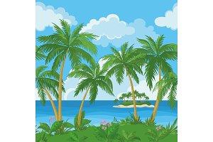 Exotic seamless tropical sea