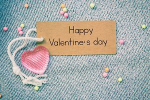 happy valentine on card