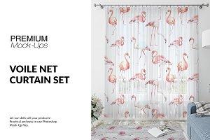 Voile Net Curtain Set