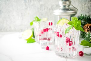 Christmas Cranberry cocktail