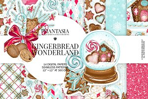 Christmas Gingerbread Digital Paper