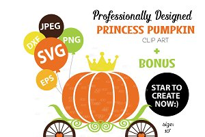 Pumpkin SVG, Royal Clip Art, vector