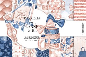 Planner Girl Digital Paper Pack