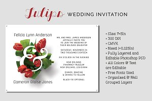 Tulips Wedding Invitation