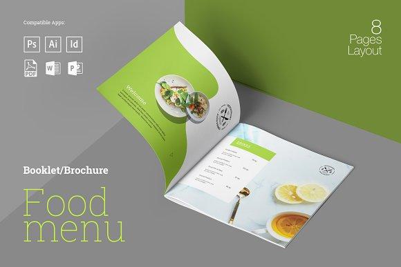 food menu booklet brochure templates creative market