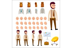 Male Character Constructor Isolated