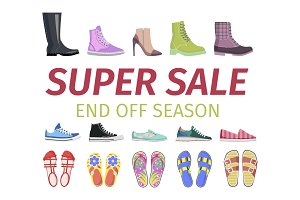 Super Sale. End Off Season. Shoes