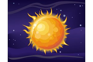 Sun in Space Background