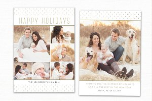 Christmas Card Template CC122
