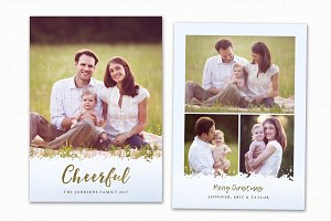 Christmas Card Template CC130