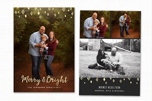 Christmas Card Template CC131